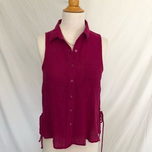 Women's Universal Thread Sleeveless Magenta XS top